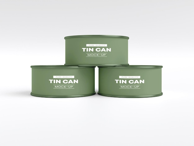 Tin can packaging mockup