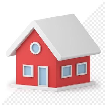 작은 집 장난감 3d 아이콘