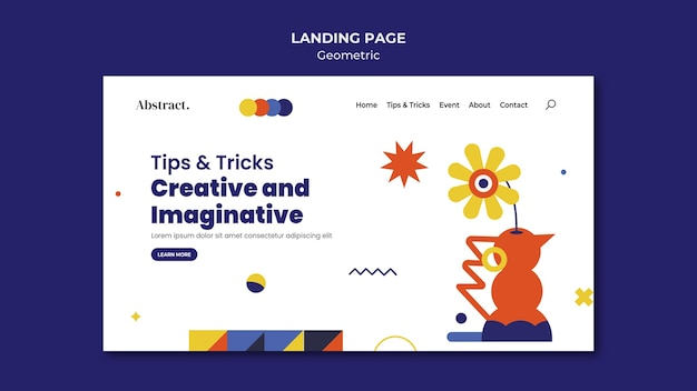 Tips and tricks landing page