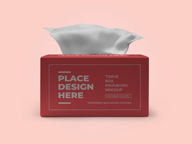 Tissue box packaging 3d mockup template psd Premium Psd