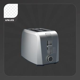 Тостер 3d-рендеринга изолированные