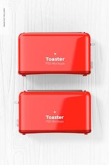トースターモックアップ、上面図