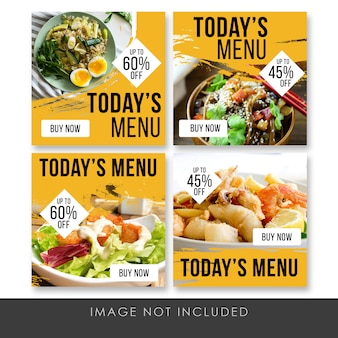 Today menu social media post culinary template