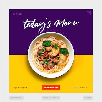 Today's special menu banner template