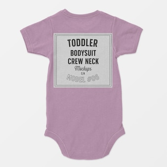 Toddler bodysuit crewneck mockup