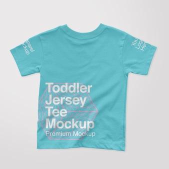 幼児ジャージーバックtシャツモックアップ