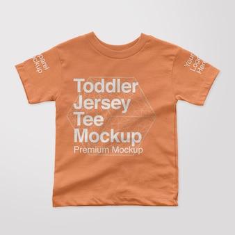 幼児ジャージーtシャツモックアップ