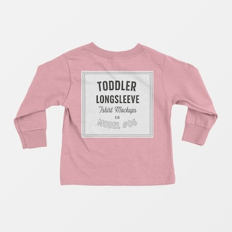 Toddler longsleeve t-shirt mockup 06