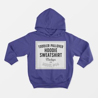 Toddler pullover hoodie sweatshirt mockup 04