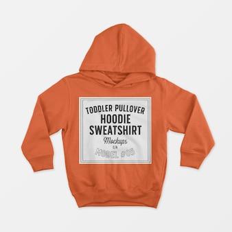 Toddler pullover hoodie sweatshirt mockup 05