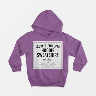 Toddler pullover hoodie sweatshirt mockup