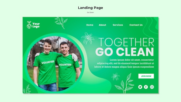 Together go clean landing page