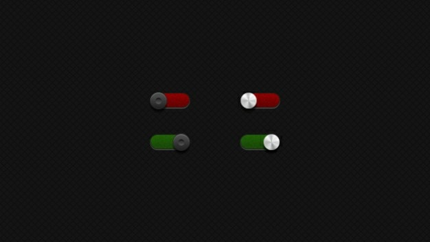 Toggle red green button