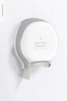 Mockup di distributore di carta igienica