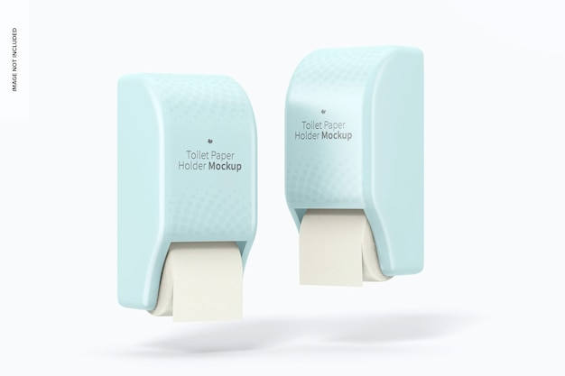 Мокап держателей туалетной бумаги