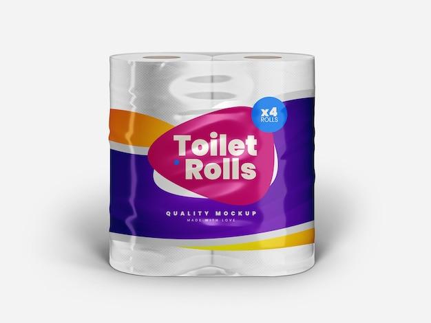 Toilet paper packaging mockup templatee