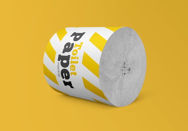 Toilet paper roll mockup