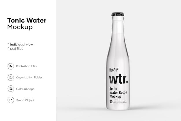 Мокап бутылки с тонической водой
