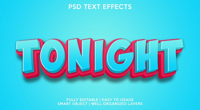Tonight text effects template