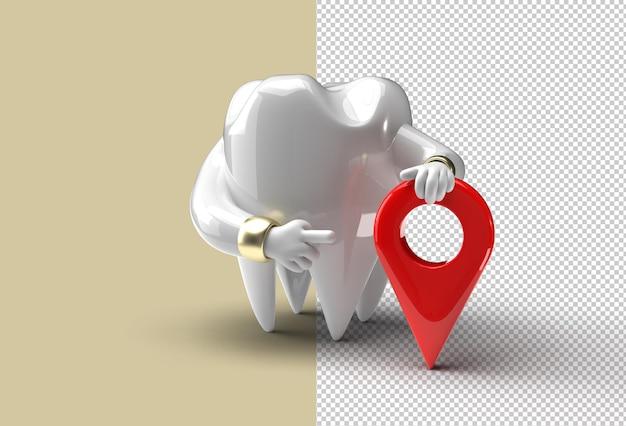 탐색 투명 psd 파일이 있는 치아