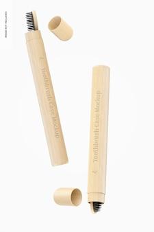 Мокап чехлов для зубных щеток Premium Psd
