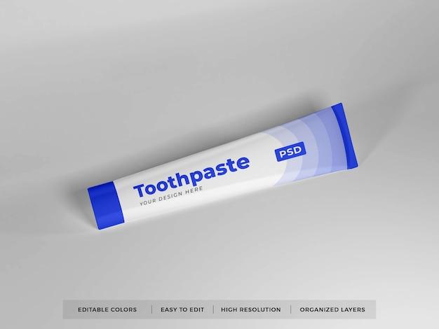 3d-мокап упаковки зубной пасты