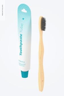 歯磨き粉チューブモックアップ、斜視図