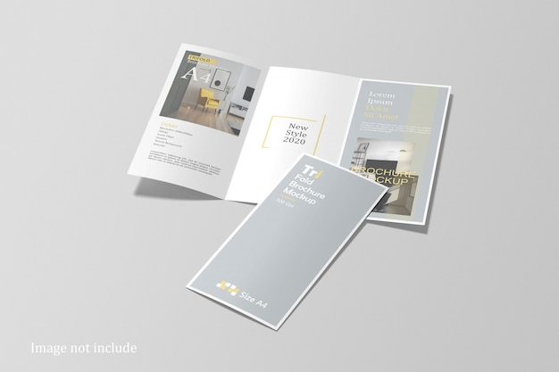 Top angle view of stationery branding mockup