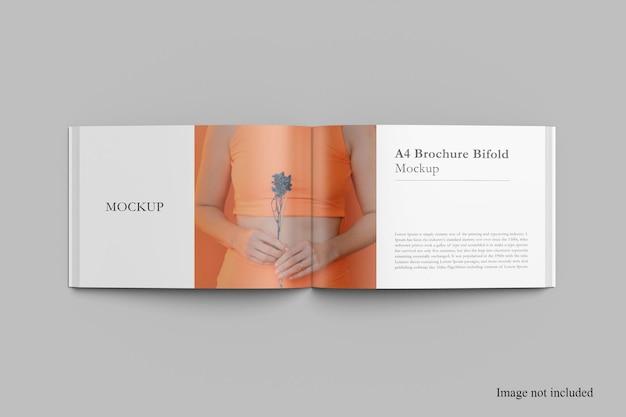 Дизайн мокапа журнала top landscape