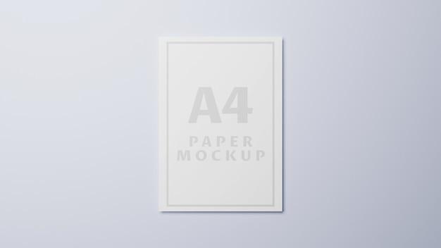Макет бумаги формата а4