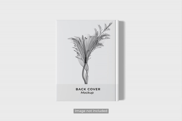 Top view of back book cover mockup