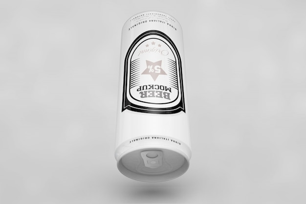 Top view beer can mock up