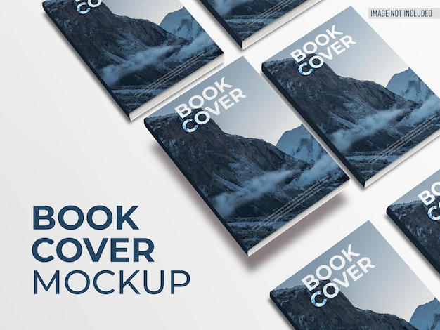 Top view of book cover mockup