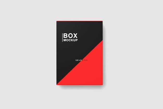 Top view box mockup