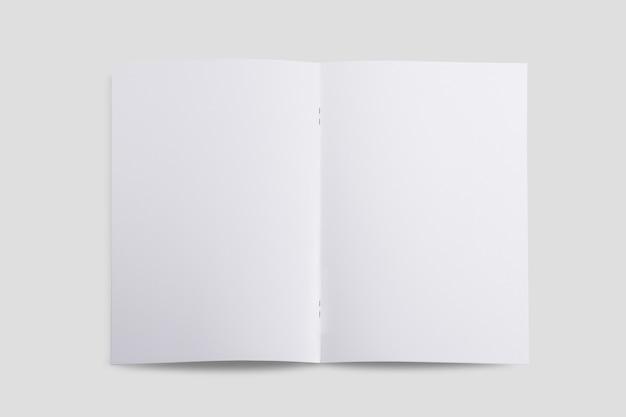 トップビューパンフレットの内側のページのモックアップ