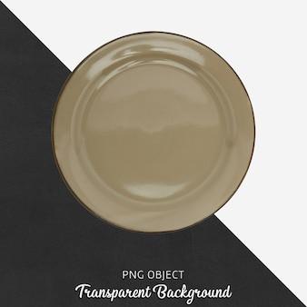 Top view of brown plate mockup Premium Psd