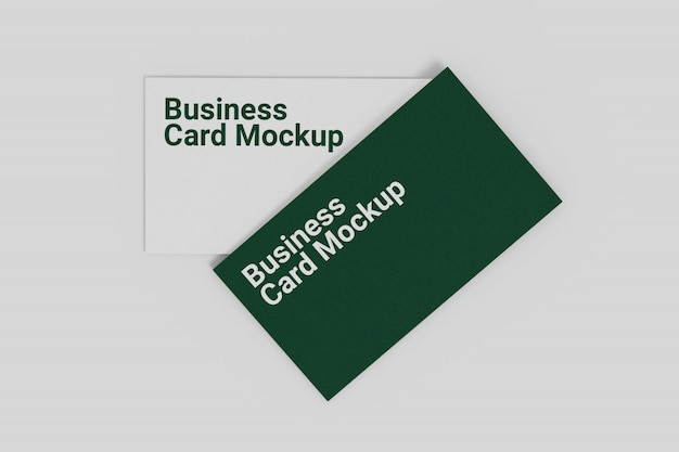 Top view business card mockup