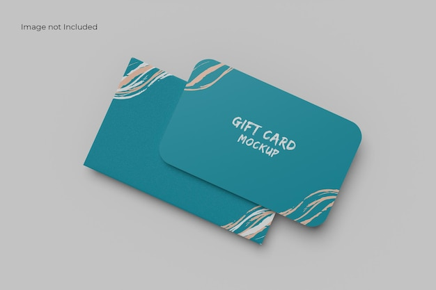 Top view card and holder mockup