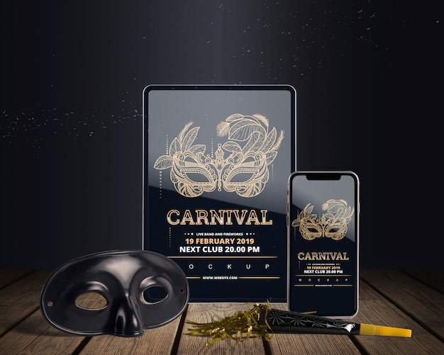Top view carnival mockup with editable objects