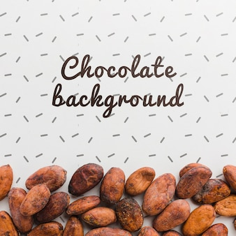Top view chocolate background mock-up