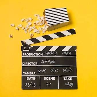 Disposizione del cinema vista dall'alto mock-up