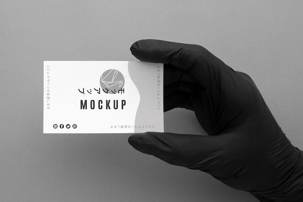 Состав вида сверху визитной карточки