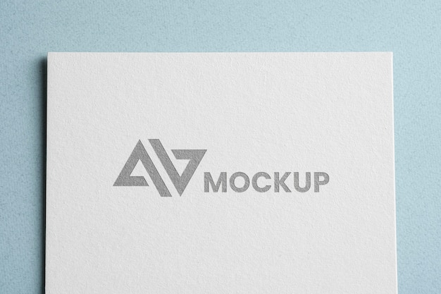 Top view corporate identity mock-up logo