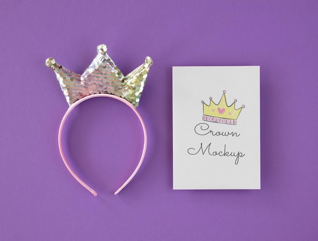 Top view crown mock-up on card