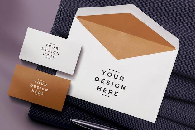 Конверт и макет визитки