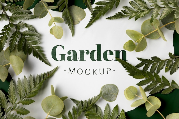 Top view garden mock-up concept