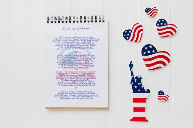 День независимости, вид сверху с макетом