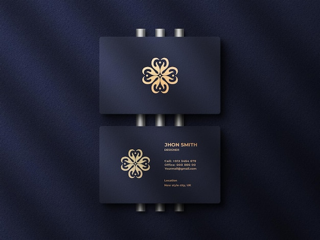 Top view luxury  modern business card mockup