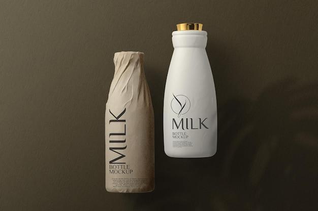 Макет бутылки с молоком