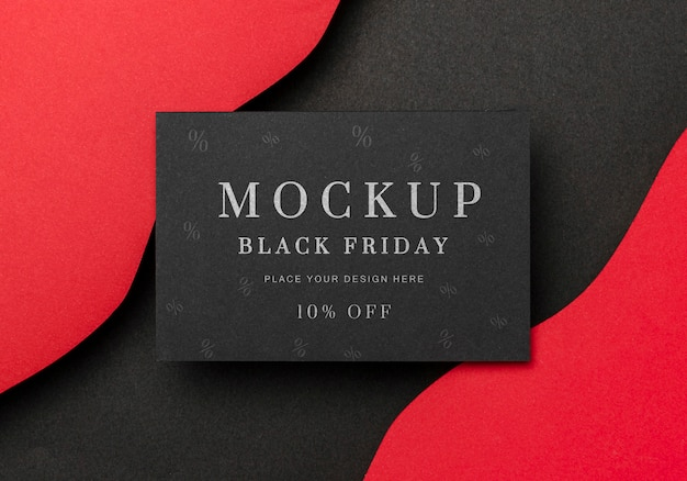 Top view mock-up black friday wavy background